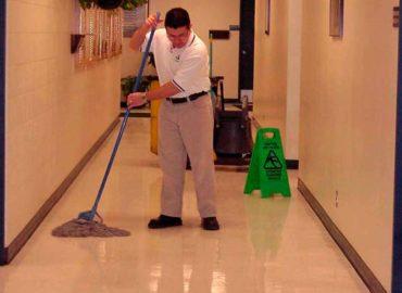 Limpieza de pasillos